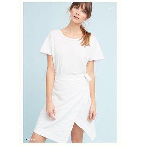 ⬇️ Anthropologie Eyelet Wrap Skort 00 White Skirt